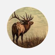 rustic western wild elk Button