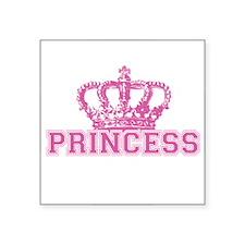 "Crown Princess Square Sticker 3"" x 3"""