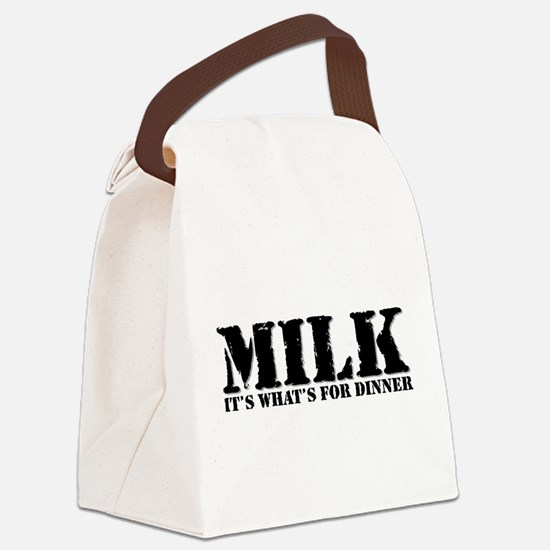Funny Breast milk Canvas Lunch Bag
