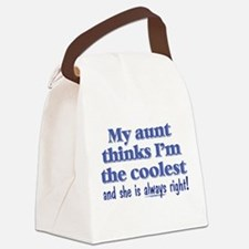 My Aunt Thinks Canvas Lunch Bag