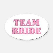 Cute Bridal party Oval Car Magnet