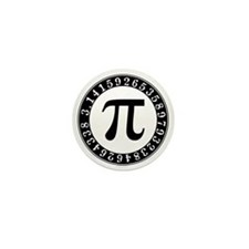 Pi symbol circle Mini Button