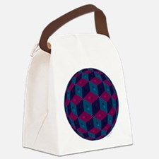 Spherized Pink, Purple, Blue and Canvas Lunch Bag