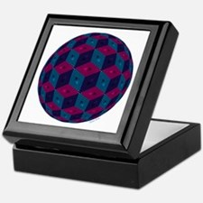 Spherized Pink, Purple, Blue and Blac Keepsake Box