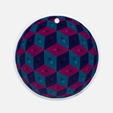 Spherized Pink, Purple, Blue and Ornament (Round)