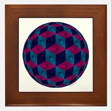 Spherized Pink, Purple, Blue and Black Framed Tile