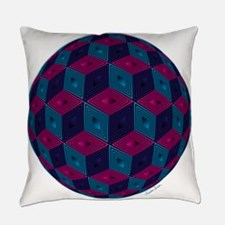 Spherized Pink, Purple, Blue and B Everyday Pillow