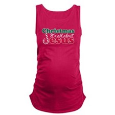 Christmas about Jesus Maternity Tank Top
