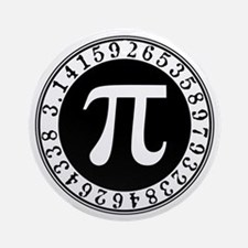 Pi sign in circle Ornament (Round)