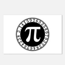 Pi sign in circle Postcards (Package of 8)
