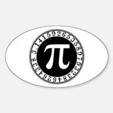 Pi sign in circle Decal