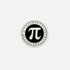 Pi sign in circle Mini Button