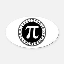 Pi sign in circle Oval Car Magnet