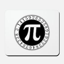 Pi sign in circle Mousepad