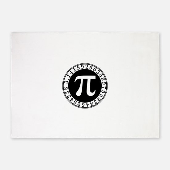 Pi sign in circle 5'x7'Area Rug