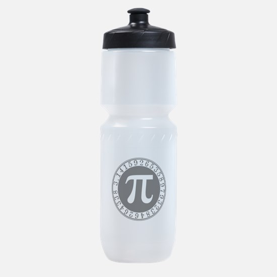 Pi sign in circle Sports Bottle