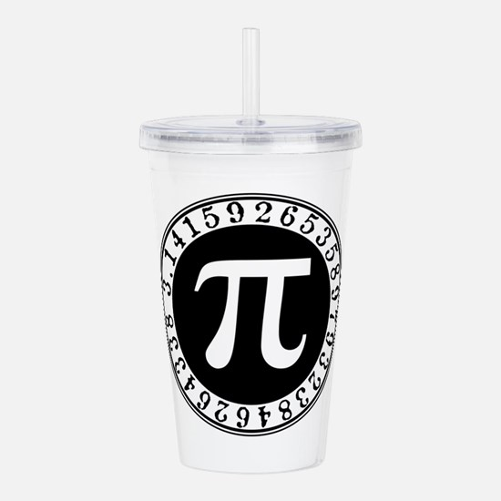 Pi sign in circle Acrylic Double-wall Tumbler