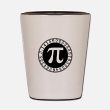 Pi sign in circle Shot Glass
