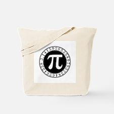 Pi sign in circle Tote Bag