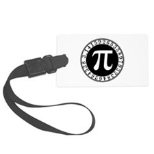 Pi sign in circle Luggage Tag