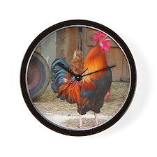 Cute Birds rooster Wall Clock