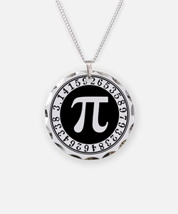 Pi sign in circle Necklace