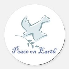 peace_earthbs.png Round Car Magnet