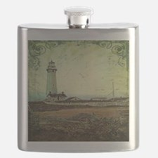 coastal nautical vintage lighthouse Flask