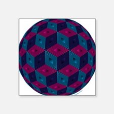 Spherized Pink, Purple, Blue and Black Hex Sticker