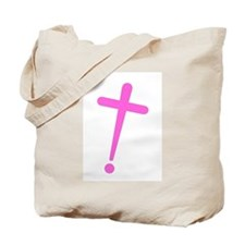 Exclamation-Cross pink Tote Bag
