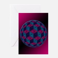 Spherized Pink, Purple, Blue and Bl Greeting Cards