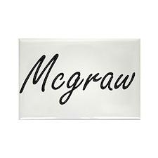 Mcgraw surname artistic design Magnets