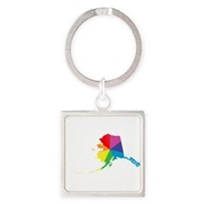 alaska rainbow Keychains