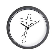 Exclamation-Cross whitewhite Wall Clock