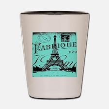 turquoise eiffel tower paris Shot Glass