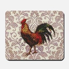 french country vintage rooster Mousepad