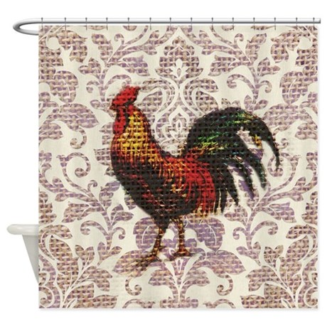 French Country Vintage Rooster Shower Curtain By Listing Store 62325139