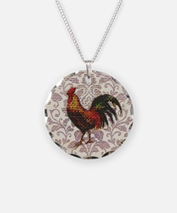 french country vintage roost Necklace