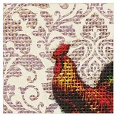 french country vintage rooster Poster