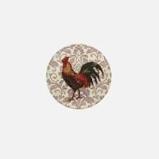 french country vintage rooster Mini Button
