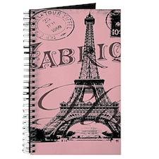 modern girly pink paris Journal