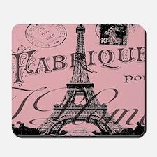 modern girly pink paris Mousepad