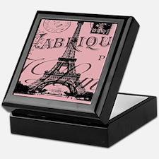 modern girly pink paris Keepsake Box