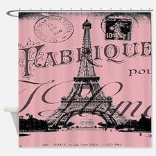 modern girly pink paris Shower Curtain