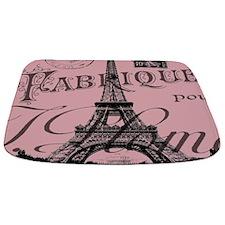 modern girly pink paris Bathmat