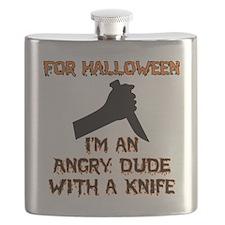 Halloween - Angry Dude Flask
