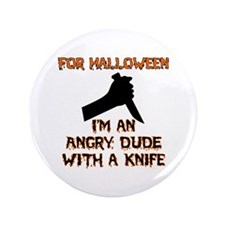 Halloween - Angry Dude Button