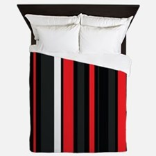 Red white and black. Queen Duvet
