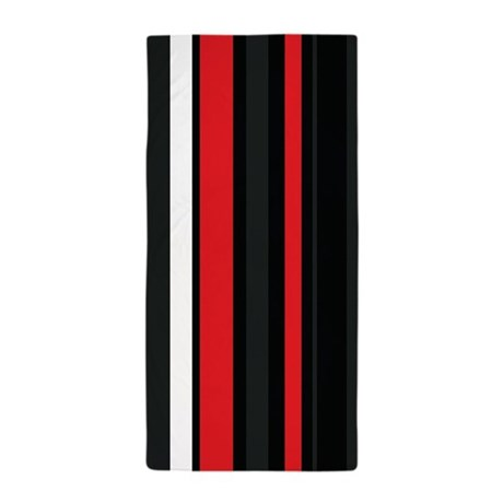 Red White And Black Beach Towel By Admin Cp119135932