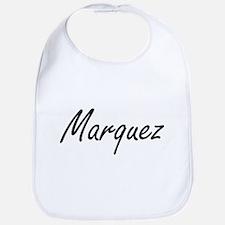 Marquez surname artistic design Bib